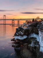 Class B First Place, Newport Bridge by Kevin Bernard