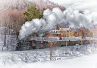 Class AA Second Place, Steam in the Snow by Dan Spendolini