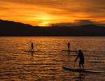 3rd Place Color Print -Paddle Boarding at Sunset - Frank Mullins