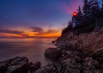 1st-12~AA~Foggy Bass Light Sunset~Zuzarte M D Karl