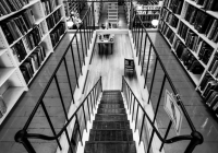 2nd_Library Stairway_Mike DiStefano_B&W Print