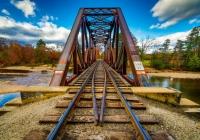 1st Class A Rusty Railroad Bridge by Michael Di Stefano