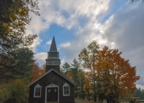 Church at Raquette Village by Warren