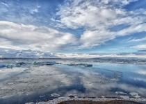 1st-71~A~Reflections at a Glacier Lagoon~Marshall Tara