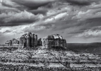 1st_Cathedral Rock_Frank  Mullins_B&W Print
