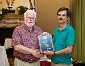 Dennis Goulet, Charlie Miller Award Recipient with Mike DiStafano