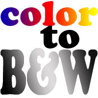 Color to B&W