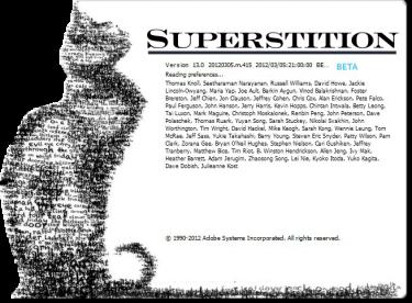 Superstition, aka Photoshop CS6 Public Beta
