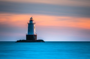 Sakonet Lighthouse by Robert Dansereau