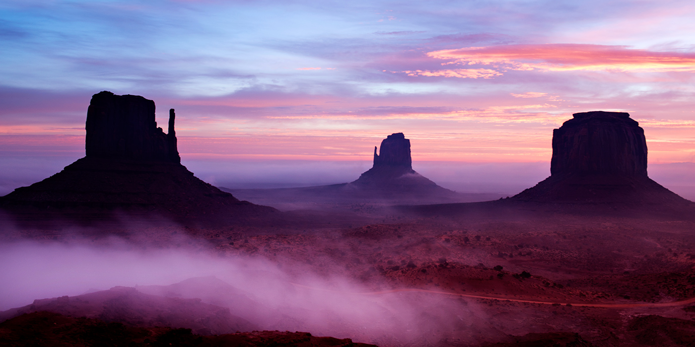 3rd-30~AA~Foggy Dawn Monument Valley 4~Janson Dena